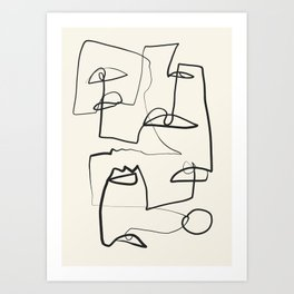 Abstract line art 12 Art Print