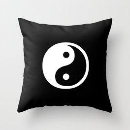 Yin Yang Black And White Throw Pillow