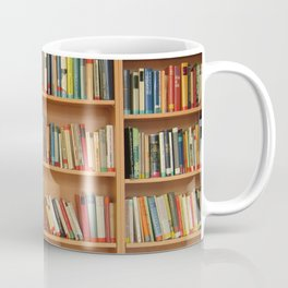Bookshelf Books Library Bookworm Reading Coffee Mug