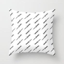 Stilettos - B&W Throw Pillow