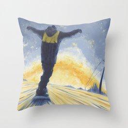 Salute The Sun Throw Pillow