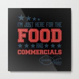 Funny American Football Superbowl Design Metal Print