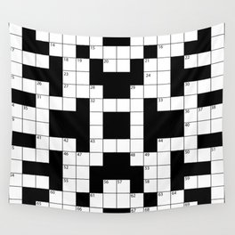 Cool Crossword Pattern Wall Tapestry