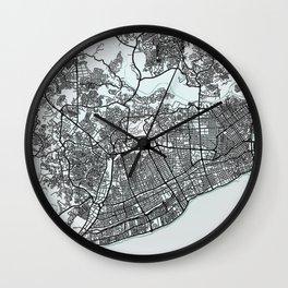 Santo Domingo, Dominican Republic, White, City, Map Wall Clock