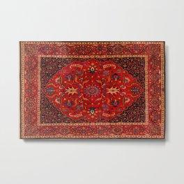 Antique Persian Rug Metal Print