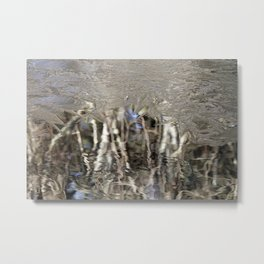 Wintery Abstract Metal Print