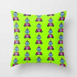 Robot Pattern Color Throw Pillow