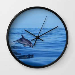 Spotted dolphin jumping in the Atlantic ocean Wall Clock