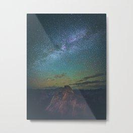 Night Sky Landscape Photography Stars Sky Metal Print