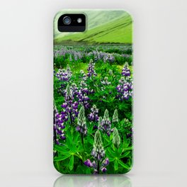 Lupine field in Iceland iPhone Case