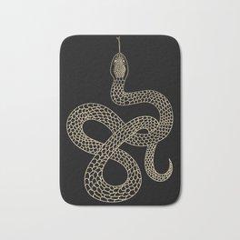 Vintage line snake Bath Mat