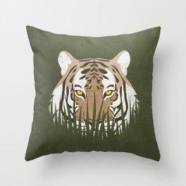 Hiding Tiger Throw Pillow