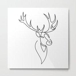 stag one line Metal Print