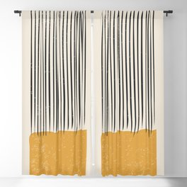 Mid Century Modern Minimalist Rothko Inspired Color Field With Lines Geometric Style Blackout Curtain