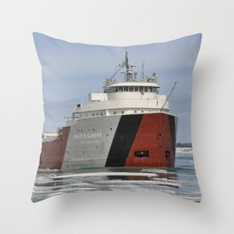 Philip R Clarke freighter Throw Pillow