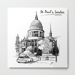 Sketch from London 07 Metal Print