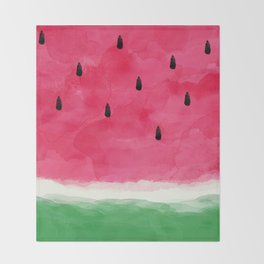 Watermelon Abstract Throw Blanket