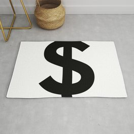 Dollar Sign (Black & White) Rug