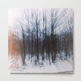 Altered Drive-By Forest Metal Print