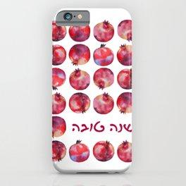 'Shanah Tovah' Hebrew Wishes for Rosh HaShanah Holidays iPhone Case