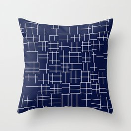 Crossing Lines Throw Pillow