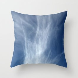 Fingerling, White Wispy Clouds Throw Pillow