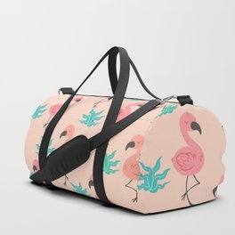 Tropical Flamingo pattern Duffle Bag