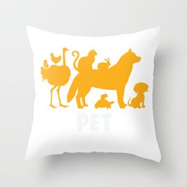 Professional Pet Sitter Animal Pet care service Throw Pillow