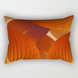Leaves in Terracotta Color #decor #society6 #buyart Rectangular Pillow