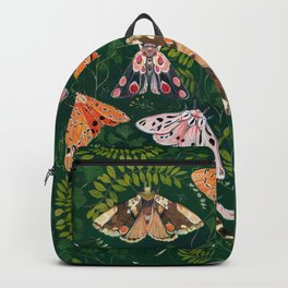 Moths and dragonfly Backpack