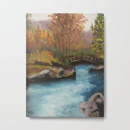 Un puente olvidado sobre un río Metal Print