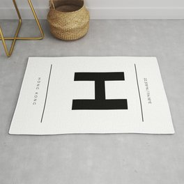 Hong Kong Initial and Coordinates Rug