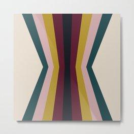 Mid Century Modern Color Reflection Metal Print