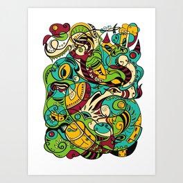 Dragon - 12 Animal Signs Art Print