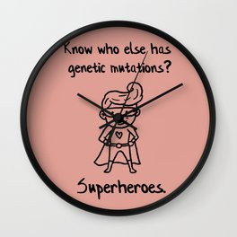 Down Syndrome Superhero Chromosomal Boys Kid  Gift Wall Clock