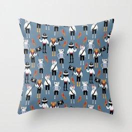 Pirate Cats Throw Pillow