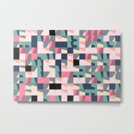 Hedgehog abstract geometric pattern with colorful shapes 009 Metal Print