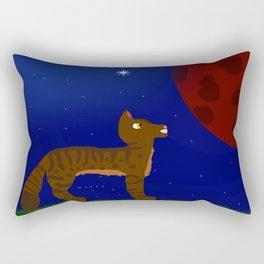 Blood Moon Tabby Rectangular Pillow