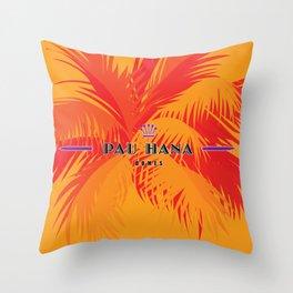 Pau Hana Domes Orange Throw Pillow