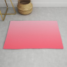 Ombre Pink Rose Gradient Pattern Rug