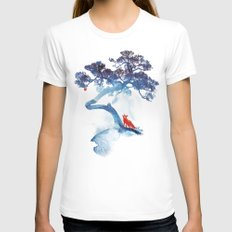 The last apple tree White LARGE Womens Fitted Tee