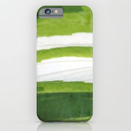 Shades of Green and White  iPhone Case