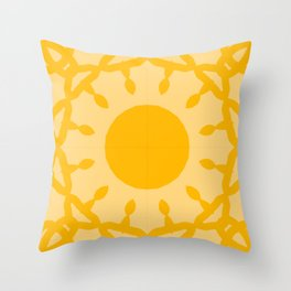 Rising Sun Solar Plexus Throw Pillow