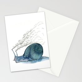 Escargot fumant Stationery Cards