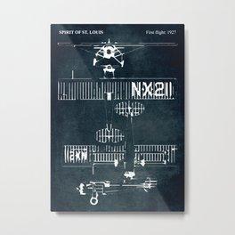 SPIRIT OF ST. LOUIS - First flight 1927 Metal Print