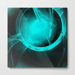 Through the glowing glass portal Metal Print