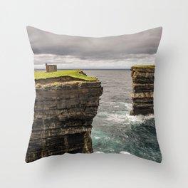 Downpatrick Head Throw Pillow