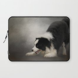Ready to Play - Border Collie Laptop Sleeve