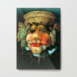 """Giuseppe Arcimboldo """"Fruit basket"""" Metal Print"""