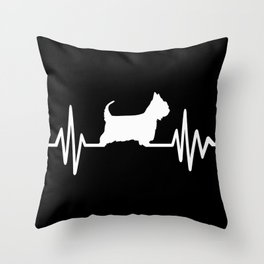 Australian Silky Terrier heartbeat Throw Pillow